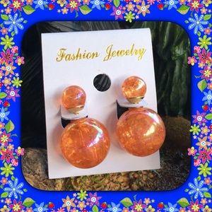 Jewelry - Orange Double Stud Earrings